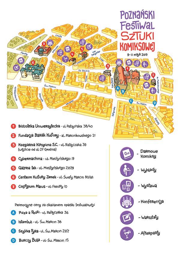 Miejsca festiwalu - Poznański Festiwal Sztuki Komiksowej